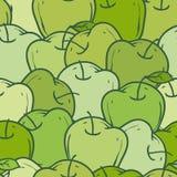 Grünes Apfel-Muster Lizenzfreies Stockfoto
