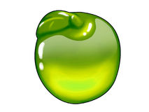 Grünes Apfelbonbon Lizenzfreies Stockfoto