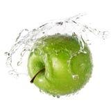 Grünes Apfelspritzen Lizenzfreies Stockbild