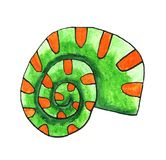 Grünes Aquarell-Seeoberteil lizenzfreie abbildung