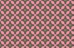 Grünes Art Deco Pink Geometric Design-Muster stock abbildung