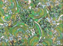 Grünes asiatisches Artgewebe. Stockbilder