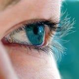 Grünes Auge des jungen Mädchens Stockfoto