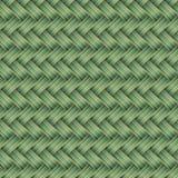 Grünes aus Weiden geflochtenes nahtloses Muster Stockfoto