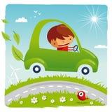 Grünes Auto Lizenzfreies Stockfoto