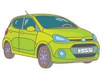 Grünes Auto stock abbildung