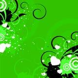 Grünes backrgound mit Inneren Lizenzfreie Stockfotografie