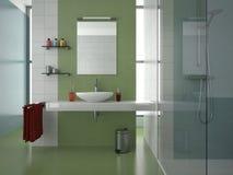 Grünes Badezimmer Lizenzfreie Stockfotografie