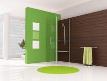 Grünes Badezimmer Stockfoto