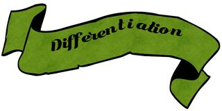 Grünes Band der UNTERSCHEIDUNG lizenzfreie abbildung