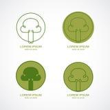 Grünes Baumzeichen Stockfotos