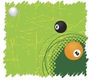 Grünes Billardmotiv Stockbilder