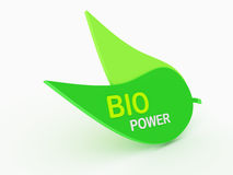 grünes Blatt 3d Lizenzfreies Stockfoto