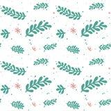 Grünes Blatt verzweigt sich Muster vektor abbildung
