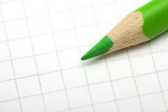 Grünes Bleistiftmakro Stockbild