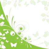 Grünes Blumen Stockbild