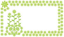 Grünes Blumenfeld   Stock Abbildung