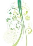 Grünes Blumenmuster Lizenzfreies Stockfoto