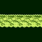 Grünes Blumenspitzeband Stockfotografie