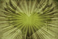 Grünes Blumenweinlese-Inneres Stockfoto