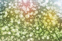 Grünes bokeh auf Natur defocus Kunstzusammenfassungs-Unschärfehintergrund lizenzfreie abbildung