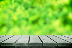 Grünes bokeh für Picknick Stockfotografie