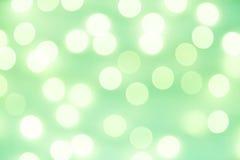 Grünes bokeh Licht, Weinlesehintergrund Lizenzfreie Stockbilder