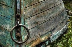 Grünes Boot Lunenburg Stockbild