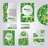 Grünes Briefpapierschablonendesign Stockfotografie