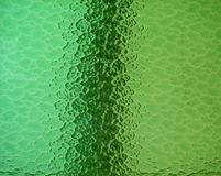 Grünes Buntglas Stockfotografie