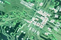 Grünes circuitboard Stockfotografie