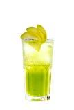Grünes Cocktail mit Apfel Lizenzfreie Stockfotos