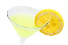 Grünes Cocktail mit Zitrone Stockfotos
