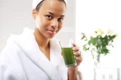 Grünes Cocktailprotein, gesunde Diät Lizenzfreie Stockfotografie