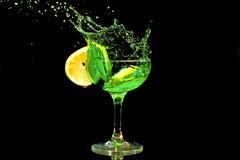 Grünes Cocktailspritzen Lizenzfreies Stockbild