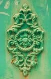 Grünes dekoratives Formteil stieg Lizenzfreie Stockbilder