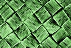Grünes diagonales gesponnenes Muster Stockbild