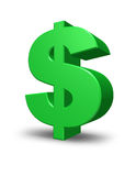 Grünes Dollar-Zeichen Lizenzfreie Stockfotos