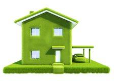 Grünes eco Haus Stockbilder