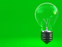 Grünes eco klassische Glühlampe mit Platz für schreiben Lizenzfreies Stockbild