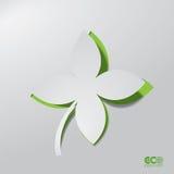 Grünes Eco-Konzept - abstraktes Blatt. stock abbildung