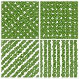 Grünes Efeukettenmuster vektor abbildung