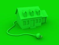 Grünes Energie-Haus Stockfotos
