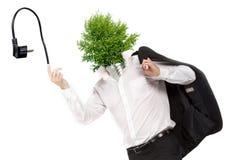 Grünes Energiesymbol Stockfotografie