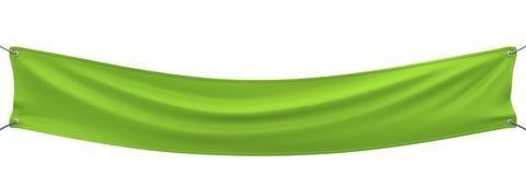 Grünes Fahnenausdehnen lizenzfreie abbildung