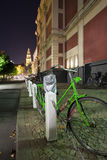 Grünes Fahrrad Lizenzfreie Stockfotos