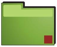 Grünes Faltblatt Stockbild