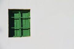 Grünes Fenster Stockfoto