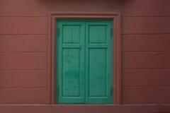 Grünes Fenster Stockbild