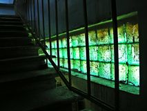 Grünes Fenster des Malachits Stockfotos